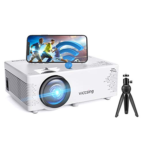 Mini Beamer, VicTsing WiFi Beamer Full HD mit...