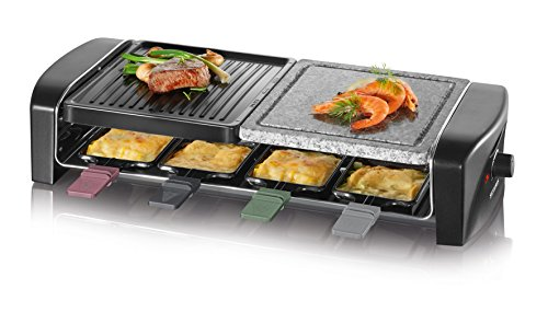 SEVERIN Raclette-Grill mit Naturgrillstein...