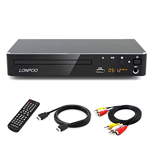 LONPOO Kompakter DVD Player für TV, HD...