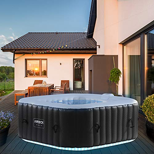 Arebos Whirlpool mit LED-Beleuchtung   6...