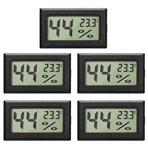 5-Pack LCD Digital Hygrometer Thermometer,...
