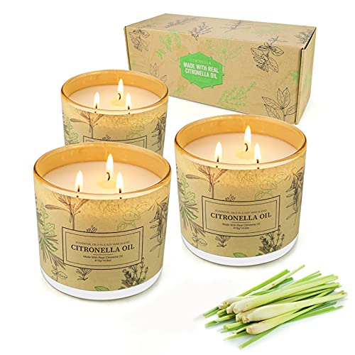 Yinuo Candle Citronella Kerzen in Dose 3er...