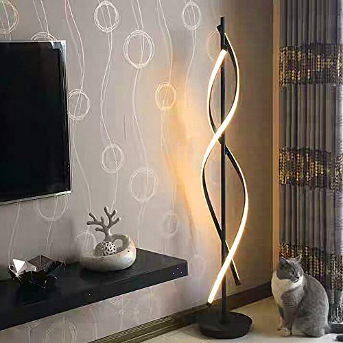 Standleuchten Dimmbare LED Spirale Stehlampe...