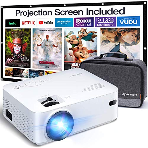 Beamer APEMAN Mini Beamer Support 1080P FHD...