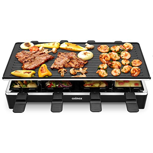 Cusimax Raclette Grill mit Reversible...